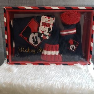 Mickey Mouse hat gloves scarf set for child